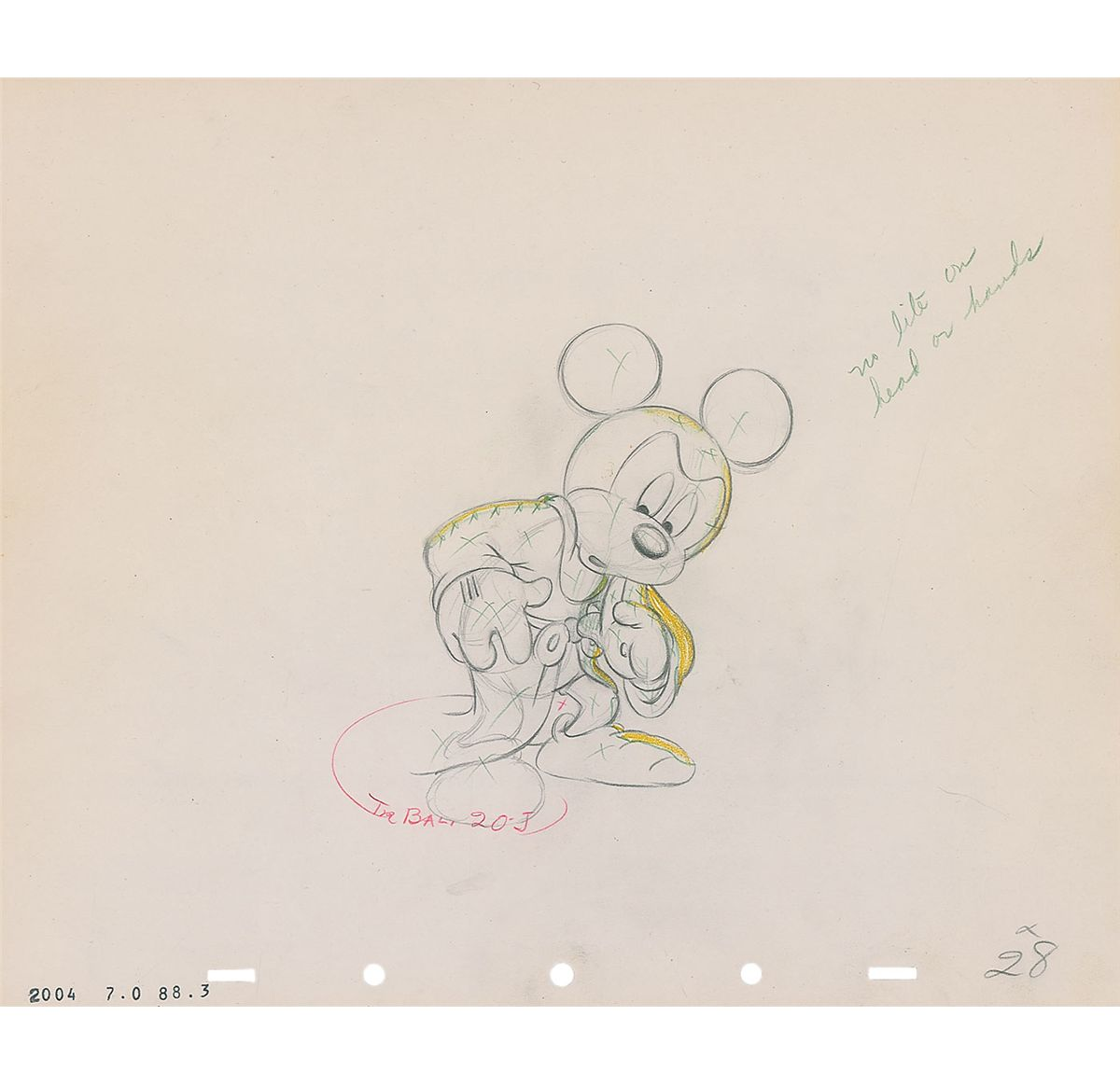 Image 1 mickey mouse as the sorcerers apprentice production drawing from fantasia