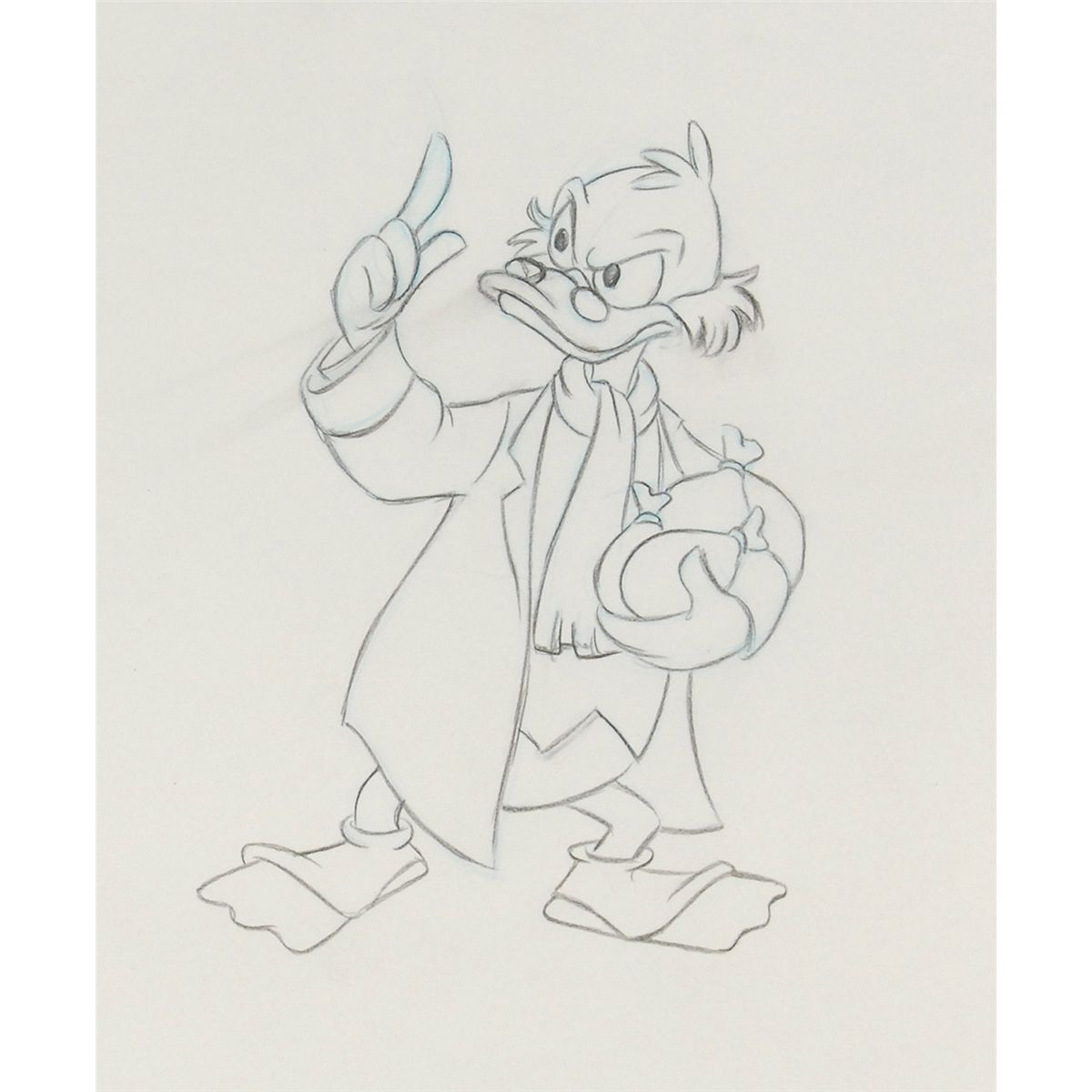 Christmas Carol Scrooge Drawing.Uncle Scrooge Production Drawings From Mickey S Christmas Carol