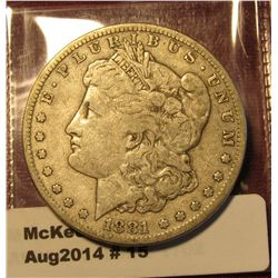 15.1881-S Morgan Dollar F+