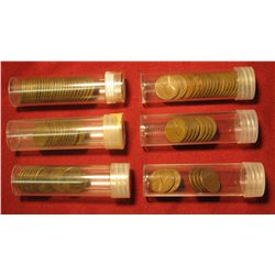 46. (6) 1953 P Shift 3 Mint error Lincoln Cents; (8) 1950 S Cents; (10) Damaged Planchet Lincoln Cen