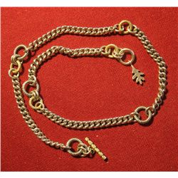 812. Silver chain with gold links, marked 925 18K J. BOHAN.Expensive piece new, especially with the
