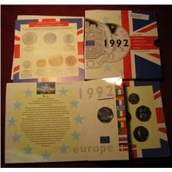 845. 1992 United Kingdom Brilliant Uncirculated Coin Collection, in original packaging