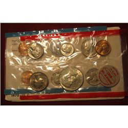 847. 1970 US Mint set, in original mint cello and outer envelope, includes scarce 1970-D half