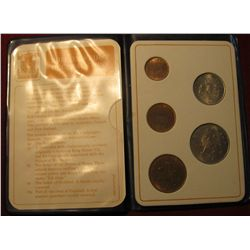 851.    Britain's First Decimal Coins, 5 coin set in a special presentation wallet
