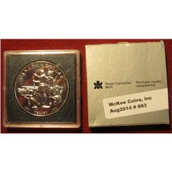 863. 1990 Canada Proof Silver Dollar – Henry Kelsey commemorative in original packaging