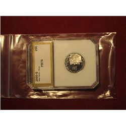 868. 2000-S SILVER Proof  New Hampshire State Quarter, graded PR70 by PCI