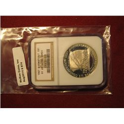 874. 1987-S Proof Constitution commemorative Silver Dollar, graded PF69 Ultra Cameo by NGC, great fo
