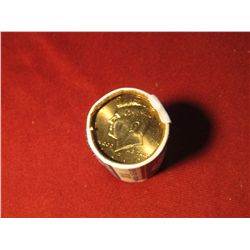 886. BU  US Mint issued roll of 2010-D Kennedy Halves, end coins are toned golden