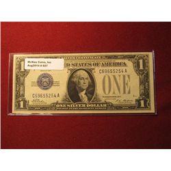 "927. Series 1928 ""Funny Back"" US $1 Silver Certificate Crisp Uncirculated."