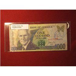 931.Series 2002 Bank of Jamaica $1000 banknote, circulated – Crazy money, Mon!