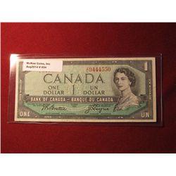 934. Series 1954 Canada $1 banknote, Beattie-Coyne signatures