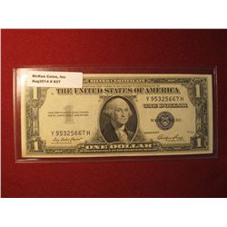 937. Series 1935-E US $1 Silver Certificate Almost Uncirculated