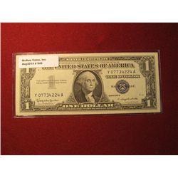 942. Series 1957-B US $1 Silver Certificate Crisp Uncirculated