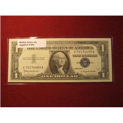 944. Series 1957-B US $1 Silver Certificate Crisp Uncirculated
