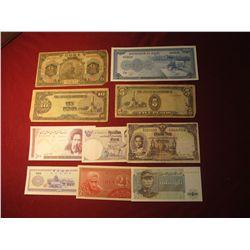 947. 10 (ten) mixed World Banknotes, WWII era to present
