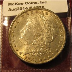 1278. 1880-S Morgan Silver Dollar, nice AU