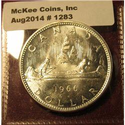 1283. 1966 Canada Silver Dollar, BU