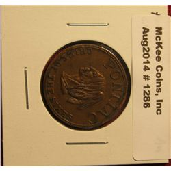 "1286. Whitehead-Hoag medal – ""Pontiac Chief of the Sixes"" – Product of General Motors, nice AU medal"