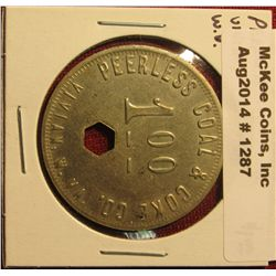 1287. Coal company scrip – Peerless Coal & Coke, Vivian, WV, $1.00 Payable in Merchandise Only