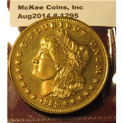 1295. 1989 brass advertising token for United Silver Mint – features faux Morgan Silver Dollar desig
