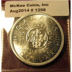 1298. 1964 Canada Silver Dollar BU