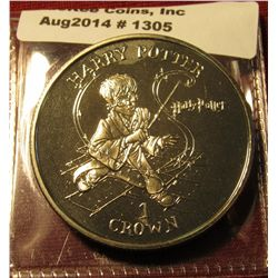 """1305. 2001 Isle of Man """"Harry Potter"""" 1 Crown coin"""