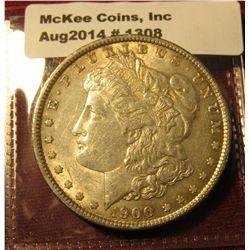 1308. 1900 P Morgan Silver Dollar AU