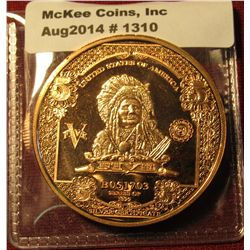 """1310. 1 ounce copper round – """"Hunkpapa"""" from $5 banknote design"""