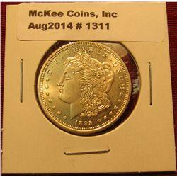 1311. 1895 P Morgan Silver Dollar advertising coin for SG Rare Coins, Hawthorne, NJ