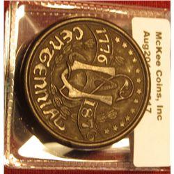 1317. 1876 Florence MFG Co. Hard Rubber trade token – Toilet Brushes / 1776-1876 Centennial, RARE th