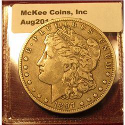 1318. 1897-O Morgan Silver Dollar VF