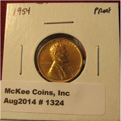 1324. 1954 P Proof Lincoln Wheat Cent