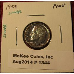 1344. 1955 P Proof SILVER Roosevelt Dime