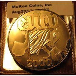 1407. 2000 Liberia $5 commemorative coin – Europe 2000 Millennium