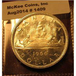 1409. 1966 Canada Silver Dollar BU