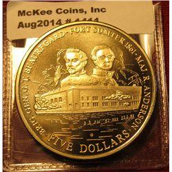1411. 2001 Liberia $5 commemorative coin – Fort Sumter 1861