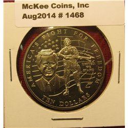 1468. 2002 Liberia $10 commemorative coin – America's Fight for Freedom