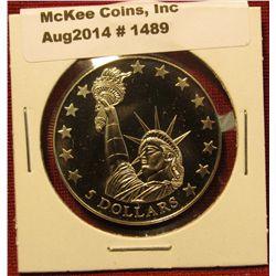 1489. 2006 Liberia $5 commemorative coin – Statue of Liberty