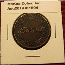 1504. Barrett 1854-1954 Centennial token – 100 Years of Experience