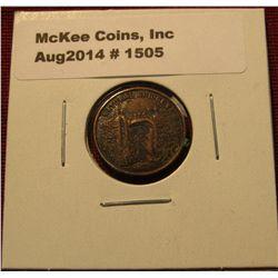 1505. Natural Bridge in Virginia (near Monticello) uniface token