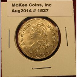 1527. 1817 over 7 over 4 Capped BustHalf Dollar advertising token for Blue Ridge Numismatic Associat