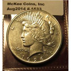 1533. 1926 Peace Silver Dollar BU