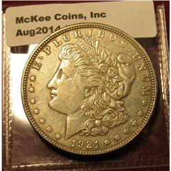 1536. 1921 P Morgan Silver Dollar XF