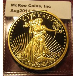 1538. Copy of a 1933 Saint Gaudens $20 Gold coin – gold-plated, marked COPY