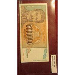 1563. 1993 Yugoslavia,  5,000,000 Dinara Bank Note. F-12.