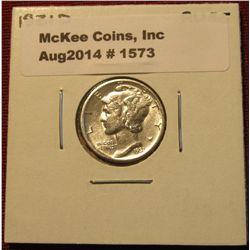 1573. 1931 D Mercury Dime AU 55.