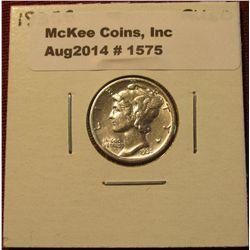 1575. 1935 S Mercury Dime. AU 50.
