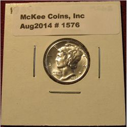 1576. 1939 P Mercury Dime. MS 63.