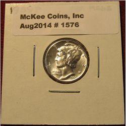 1576. 1939 P Mercury Dime. MS 63.