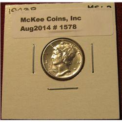 1578. 1943 P Mercury Dime. MS 62.